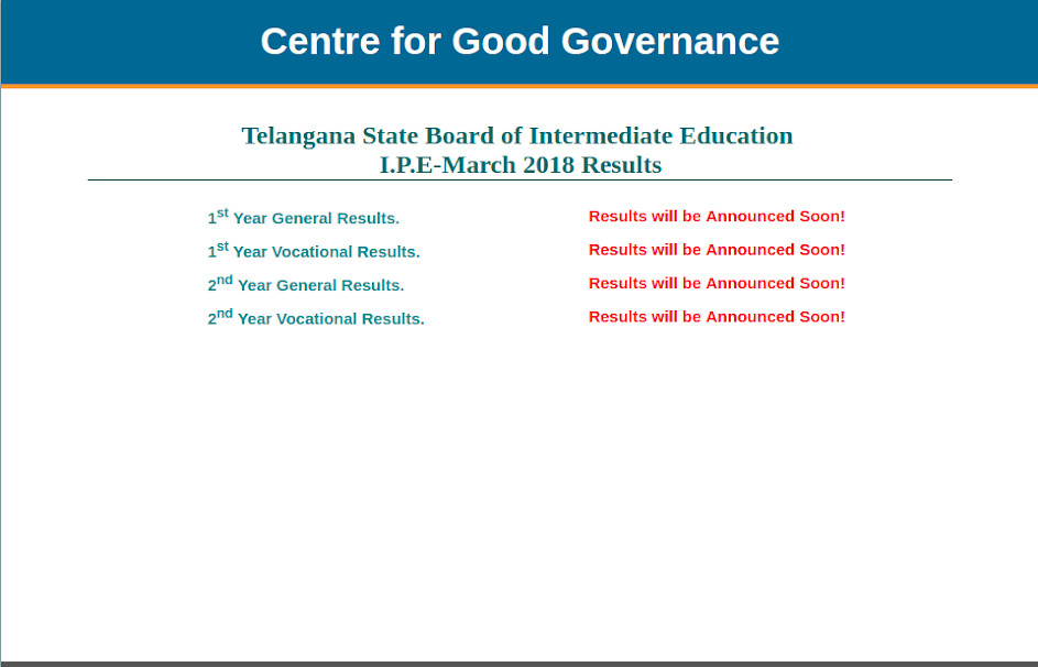 TS Inter Result 2018 declaration date announced; to be declared at bie.telangana.gov.in