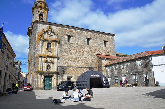 Start in Melide, Camino de Santiago, Galicia