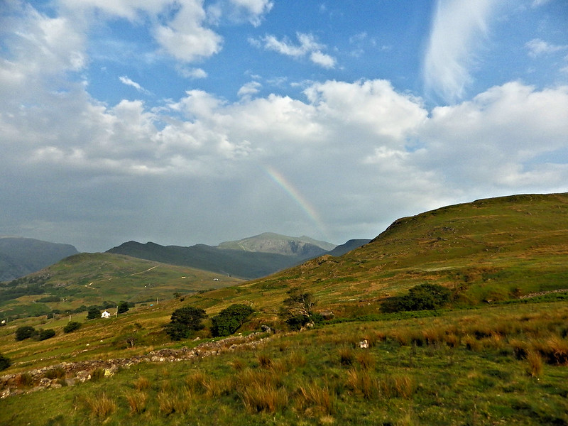 Rainbow over Snowdon. The sun typically comes out as I'm finishing!