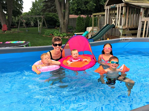 family fun in our new pool