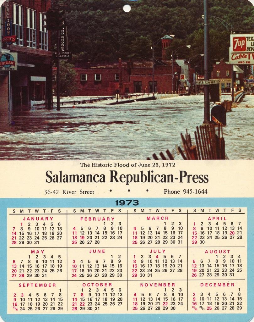 The Historic Flood Of June 23 1972 Salamanca 1973 Cale Flickr