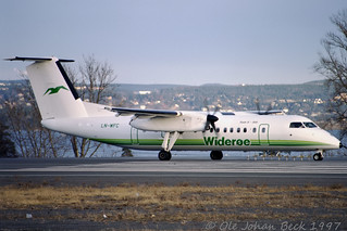 Widerøes DHC-8-311 LN-WFC at ENFB/FBU 30-03-1997 | by Ole Johan Beck