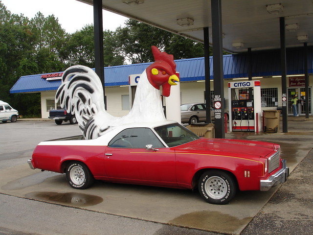 Rooster El Camino at Ms. Billie's in Irvington AL