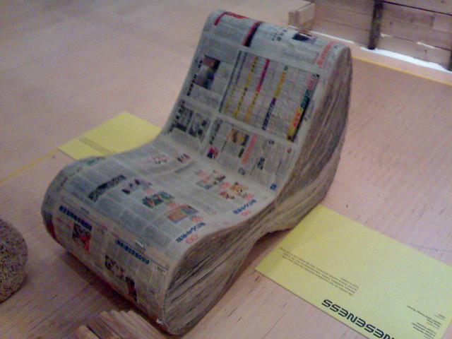 Newspaper Chair Always Something To Read Jan Van