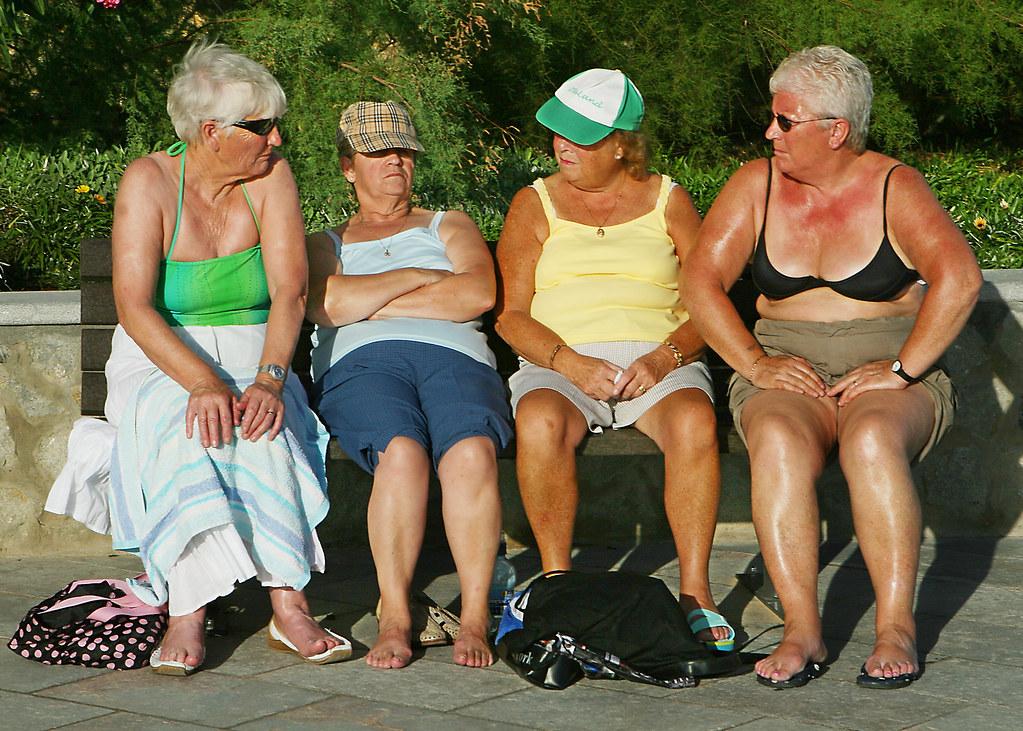 「old women beach」の画像検索結果