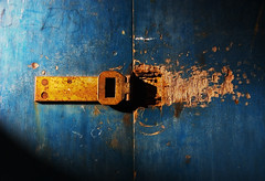Rusty Hinge on Blue Door | by Nigel Byde