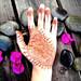 Henna with bougainvillea