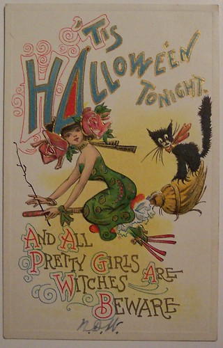 Vintage Halloween Postcard by artist Dwig | by riptheskull