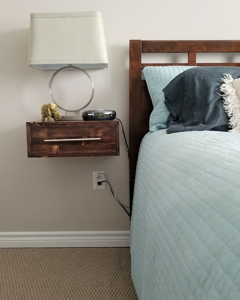 DIY Floating Bedside Tables