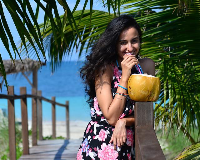 Un coco de postre antes de ir a la playa