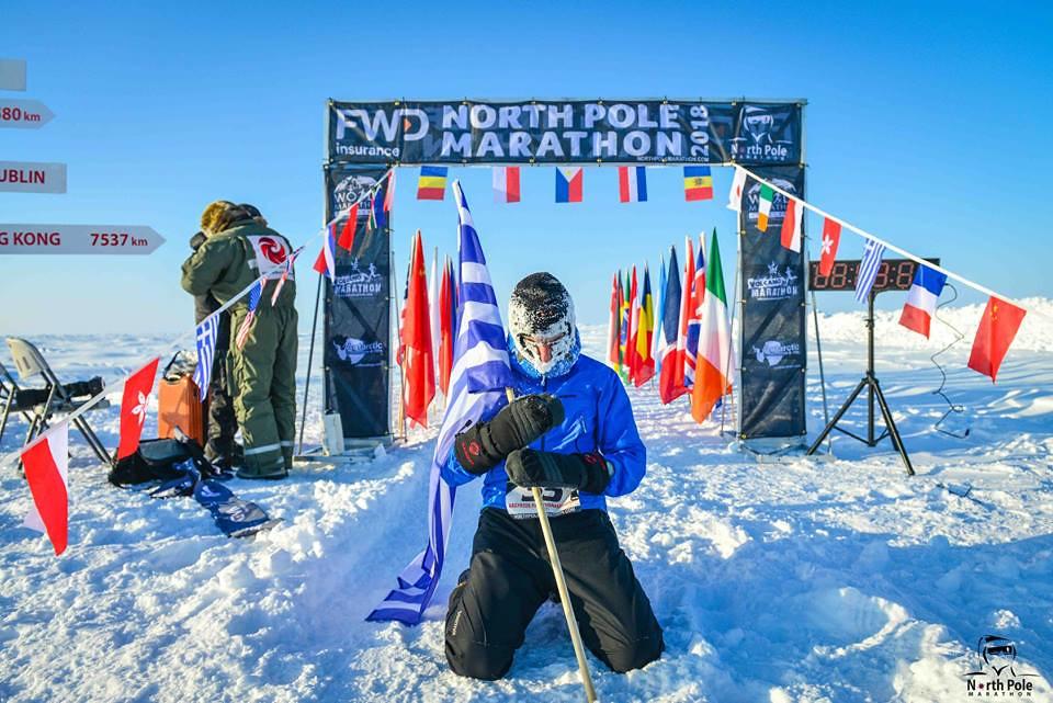 Ο Αργύρης Παπαθανασόπουλος στον North Pole Marathon | ©North Pole Marathon