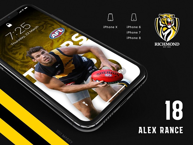 Alex Rance (Richmond Tigers) iPhone Wallpaper