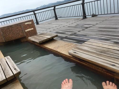 桜島 足湯