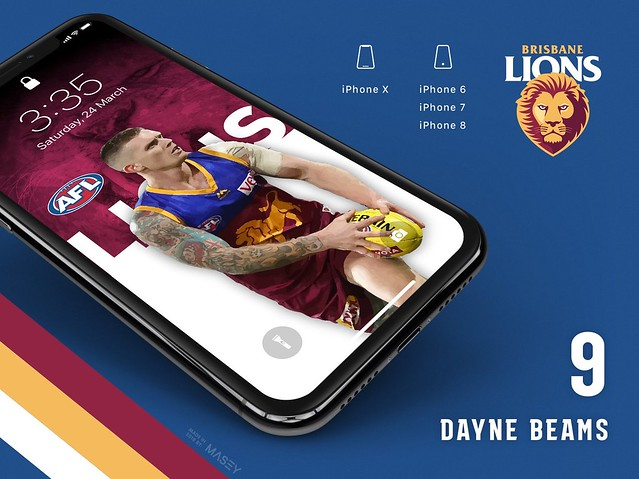 Dayne Beams (Brisbane Lions) iPhone Wallpaper