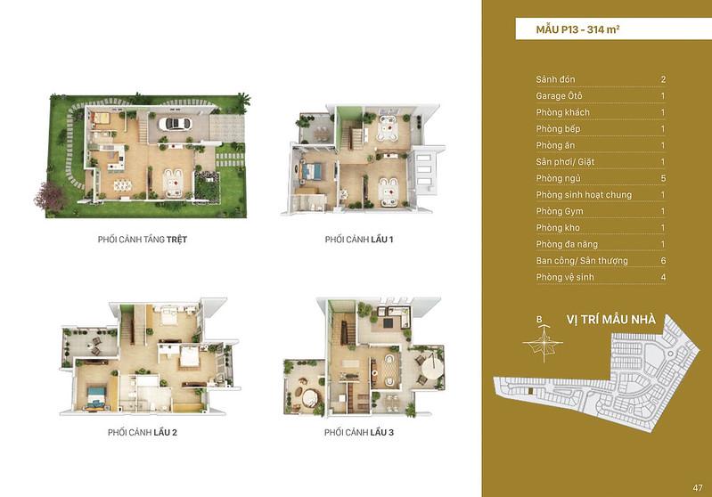 Mẫu thiết kế P13 biệt thự đơn lập Villa Park