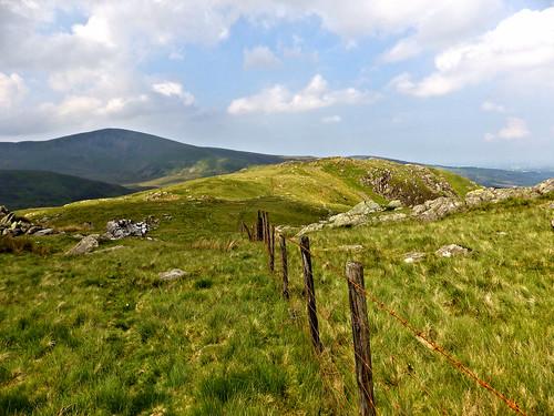 Looking back down the Llechog ridge