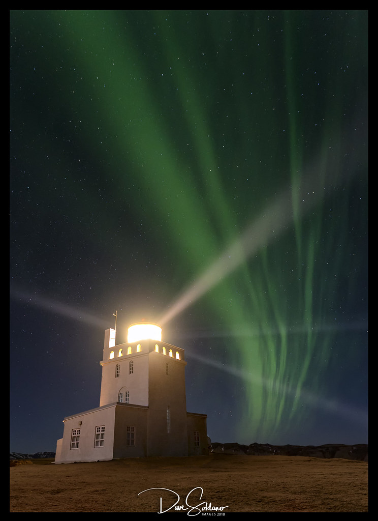 Lighthouse Under The Northern Lights Iceland 2018 I