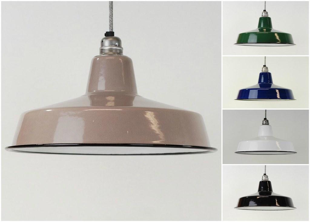 Emaille Lampenschirm klassisch retro vintage industriell fabric emaille schirm
