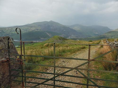 A farm track - Elidir Fawr in the background