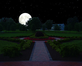 Founder's Park Hershey w Supermoon Signed 2 Image2G1 20 X 16 | by harveyc111