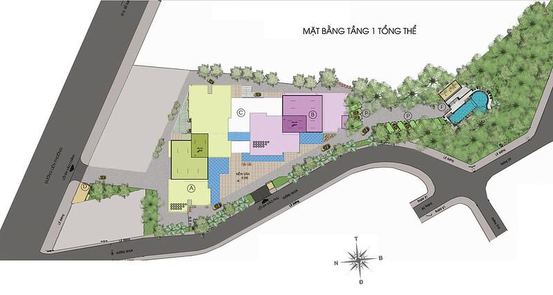 Mặt bằng dự án căn hộ Thủ Thêm Garden quận 9