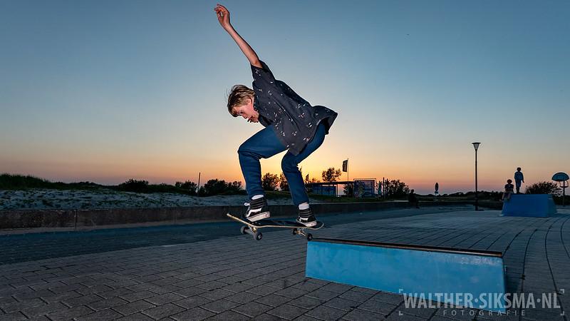 Skateboarder, Elinchrom ELB500 strobist