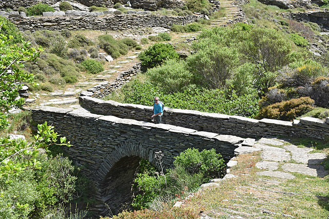 Old bridge, Ormos Korthiu route, Andros