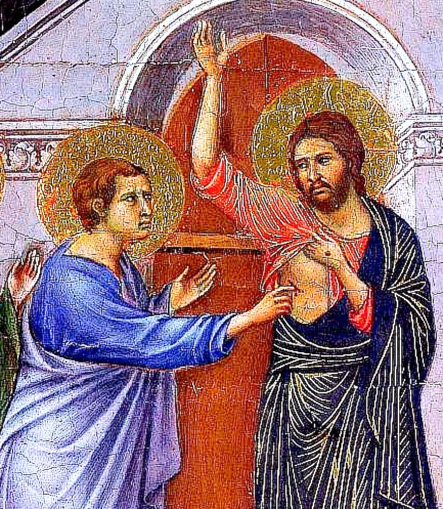 Икона Недели (Воскресения) 2-й по Пасхе, апостола Фомы