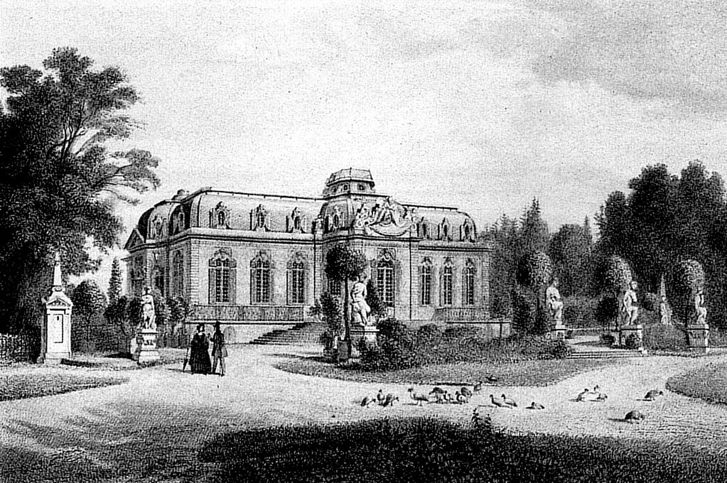 Дворец Бенрат в 1-й половине XIX века.