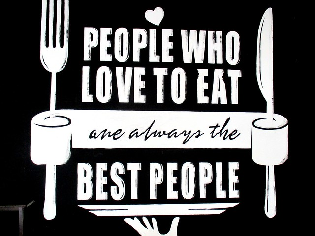 People who love to eat...