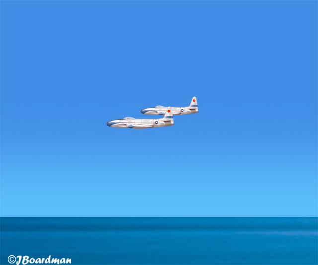 The sky was clear when Wiggins & Thomas took off ©JBoardman