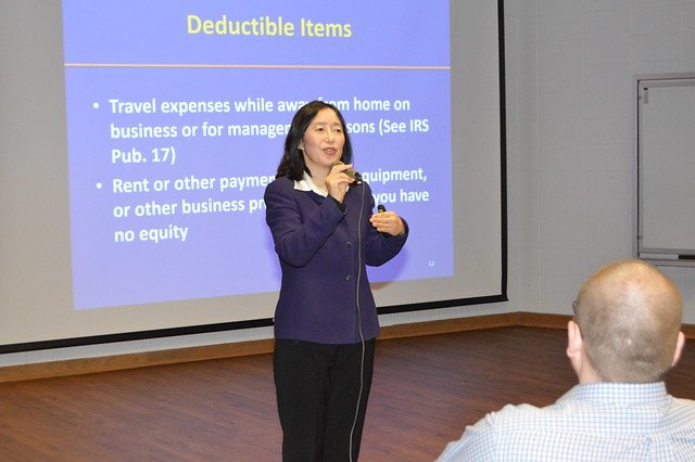 Timber Tax Specialist Linda Wang in a workshop