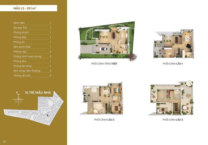Mẫu thiết kế L2 biệt thự đơn lập Villa Park