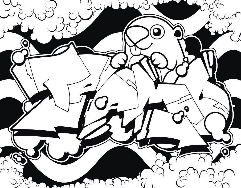 Te Amo graffiti coloring page | This is the final rendering … | Flickr