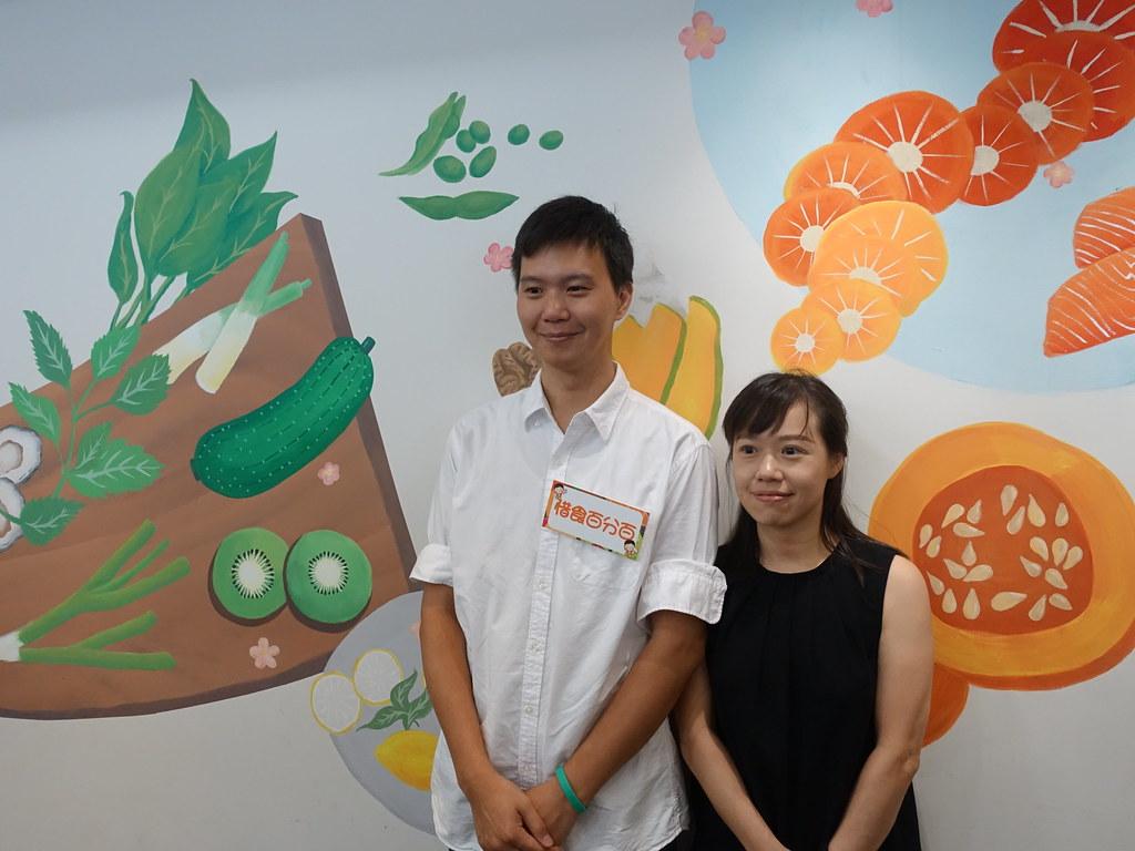 原粹蔬食創辦人柯詩語、簡鉉堼,賴品瑀攝。