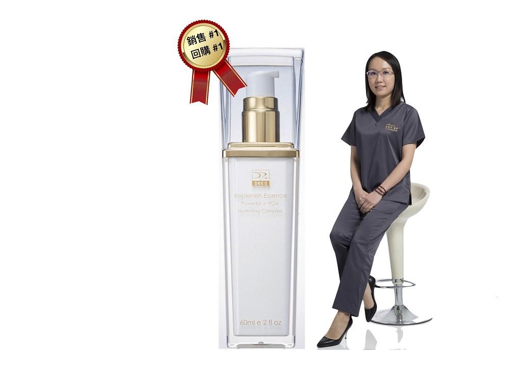 臉部保養最重要的就是保濕跟補水,精萃水漾保濕菁露是美上美皮膚科回購率最高的保養品之一,適合所有的肌膚