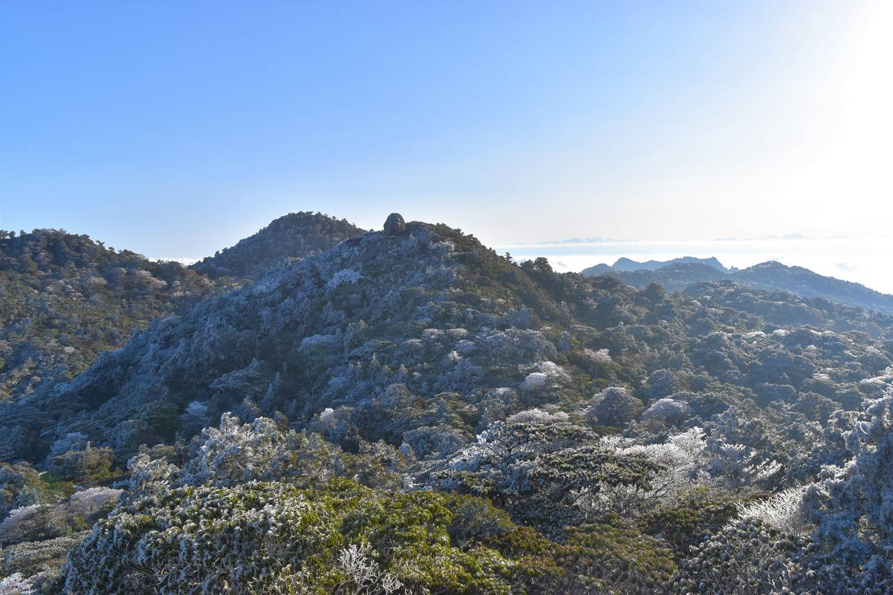 宮之浦岳登山 展望台からの眺め