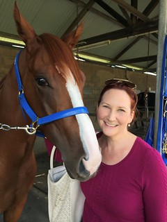 Natasha Hamilton (Racing Australia Equine Genetics Research Centre) with her Racehorse | Equus Education