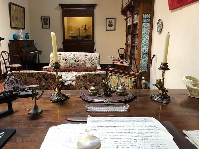 Despacho de Benito Pérez Galdós en la casa museo de Las Palmas de Gran Canaria