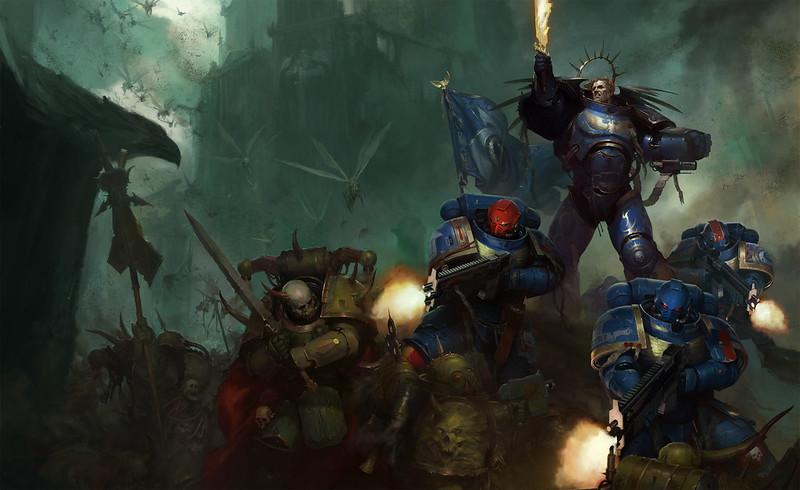 «Тёмный Империум: Чумная война», рисунок обложки