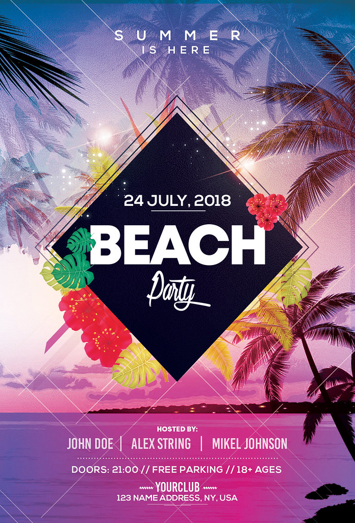 Beach Party Psd Flyer Template Beach Party Is A Premium Flickr