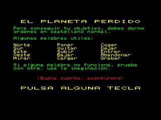 El Planeta Perdido (Amstrad CPC) | by Deep Fried Brains