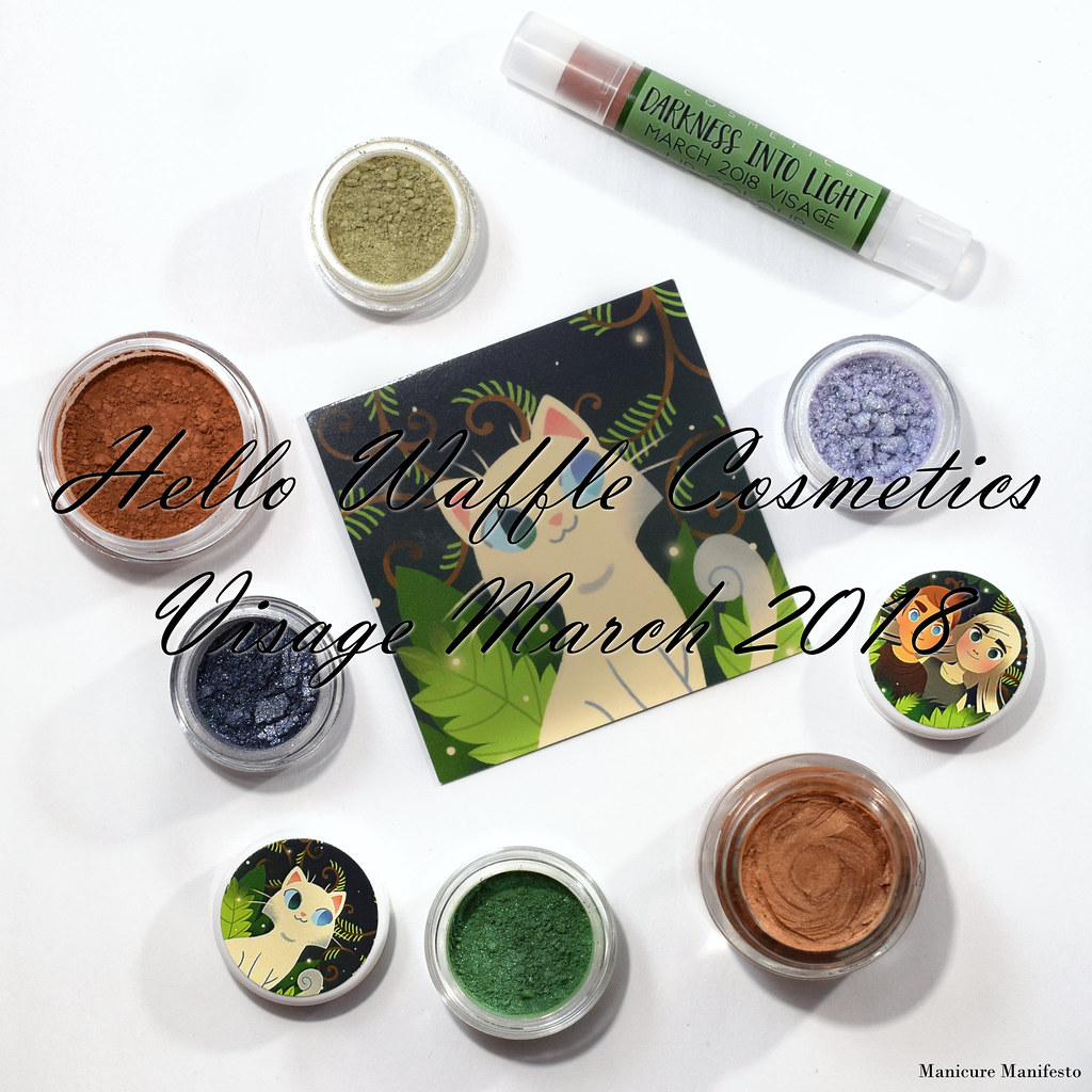 Hello Waffle Visage March 2018 swatch review