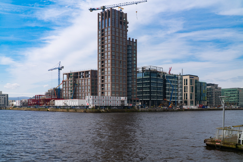 Capital Dock As Seen From The Opposite Side Of The Liffey