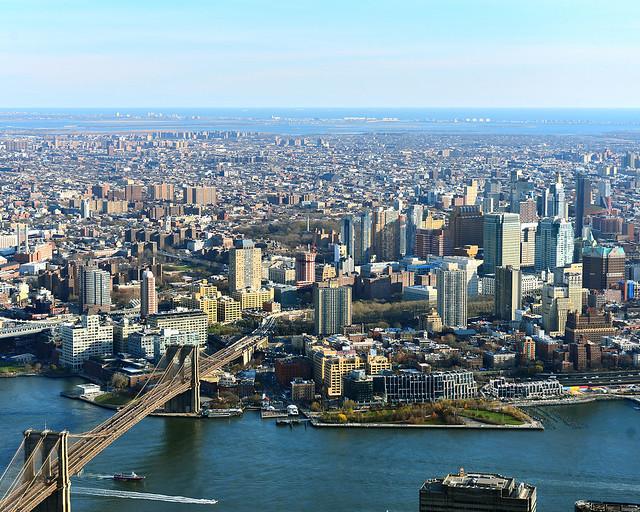 Puente de Brooklyn visto desde el cielo