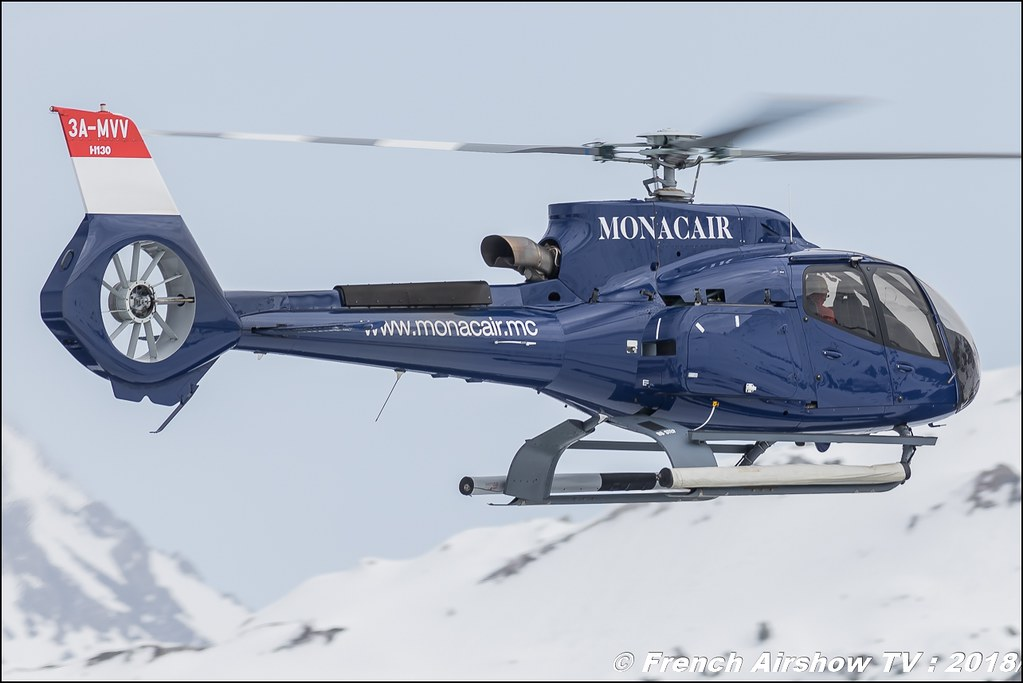 Airbus Helicopters H130T2 - Monacair , Fly Courchevel 2018 - Altiport Courchevel , Meeting Aerien 2018