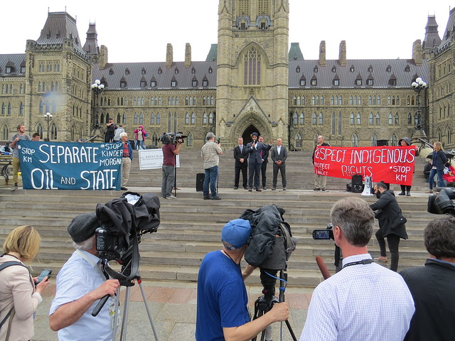 Emergency Rally to stop Kinder Morgan at Parliament Hill on May 22, 2018