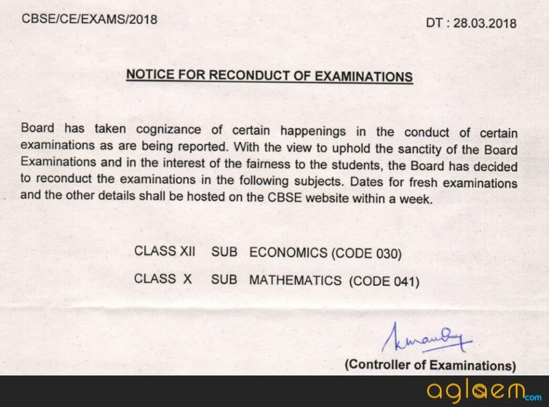 CBSE to Re-conduct Class 10 Maths & Class 12 Economics Paper; Students Demand Re-exam for Accounts, Bio, SST