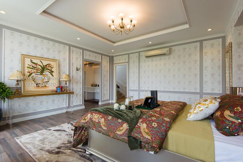 Phòng ngủ master nhà mẫu Villa Park