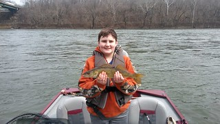 Boy with walleye